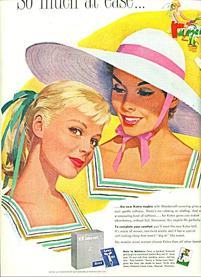 1957 KOTEX NAPKINS AD Jon Whitcomb ART (Image1)