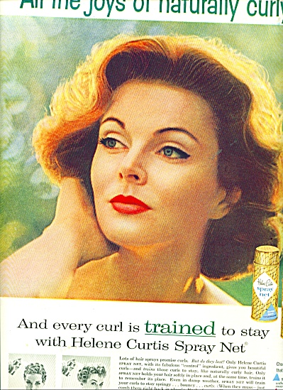 SUZY PARKER Model Helene Curtis Spray Net AD (Image1)