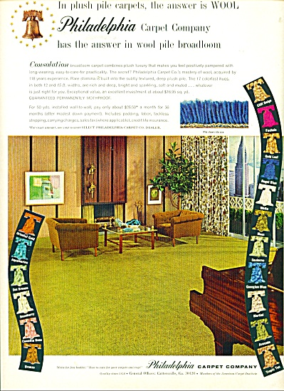 Philadelphia carpet company ad (Image1)