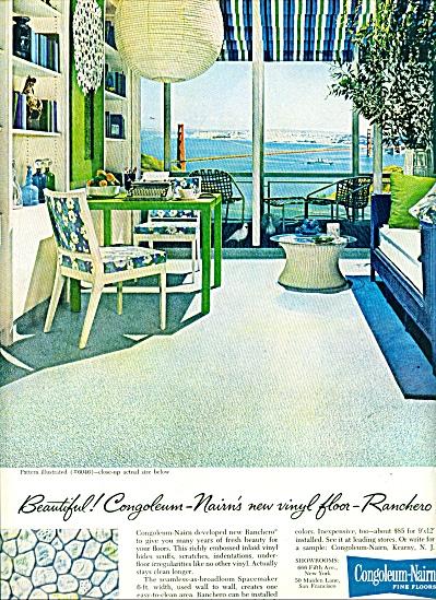 Congoleum-Nairn fine floors ad RANCHERO DESIGN (Image1)