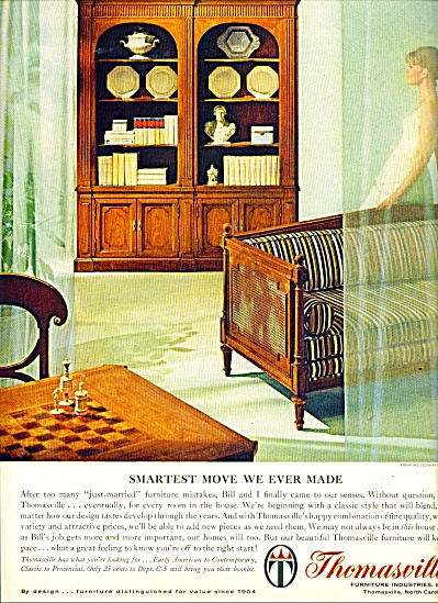 Thomasville Furniture Industries Ad, Thomasville Furniture Industries