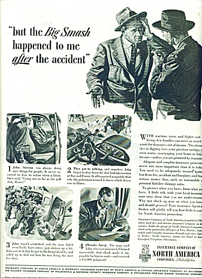 Insurance company of North America ad - 1944 (Image1)