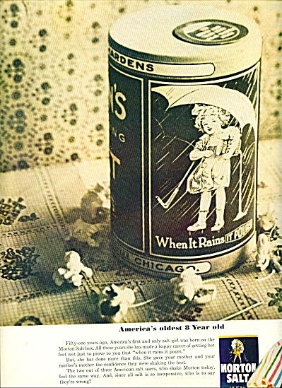 Morton Salt ad VINTAGE SALT BOX (Image1)