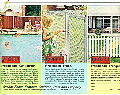 Anchor fence ad - 1963 (Image1)