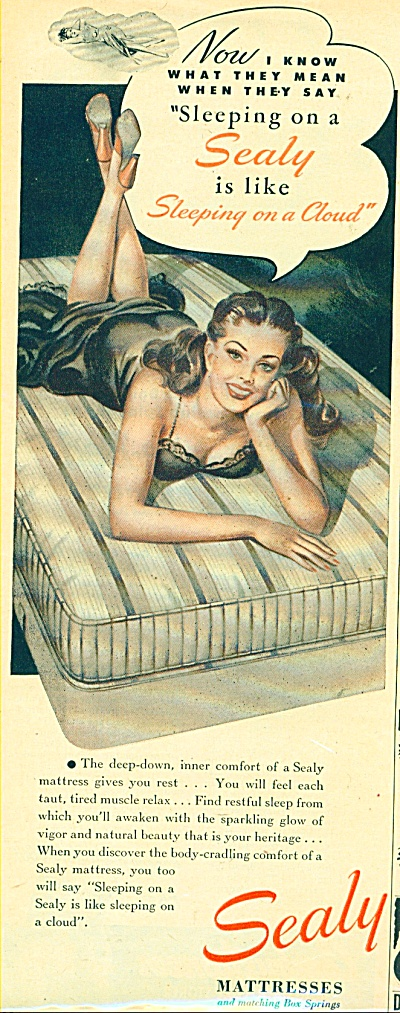 Sealy Mattresses ad PIN UP ART WOMAN (Image1)