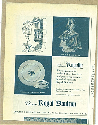 Royal Doulton Ad 1953