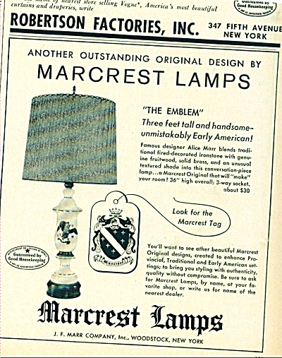 Marcrest Lamps ad (Image1)