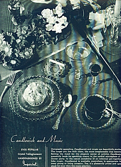 Candlewick and Music tableglassware ad (Image1)