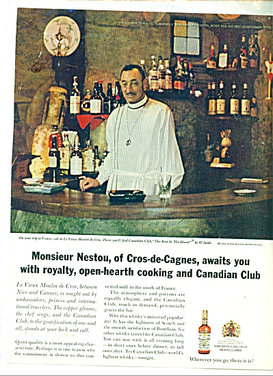 Canadian Club Whiskey AD France Moulin (Image1)