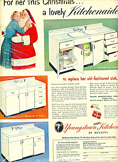1949 Youngstown steel Kitchens by Mullins ad (Image1)