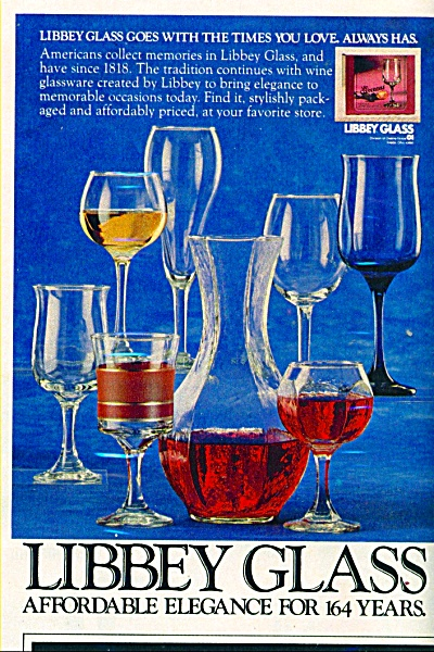 Libbey Glass Ad - 1982