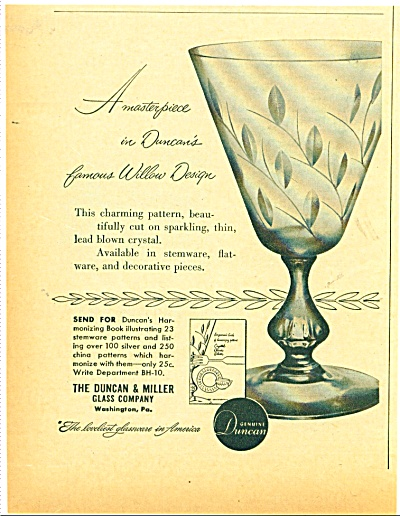 The Duncan & Miller glass company - 1952 (Image1)