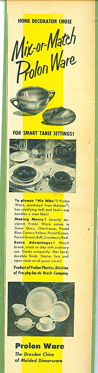 Prolon Ware ad - 1952 (Image1)