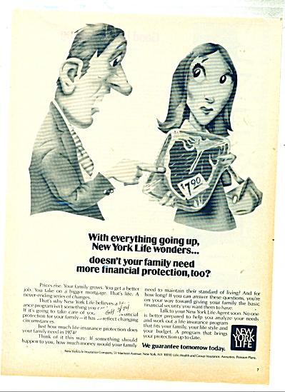 New York Life Insurance co. ad - 1974 (Image1)