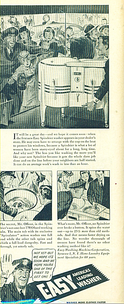 1945 EASY Washing Machine AD Cool ARTWORK (Image1)