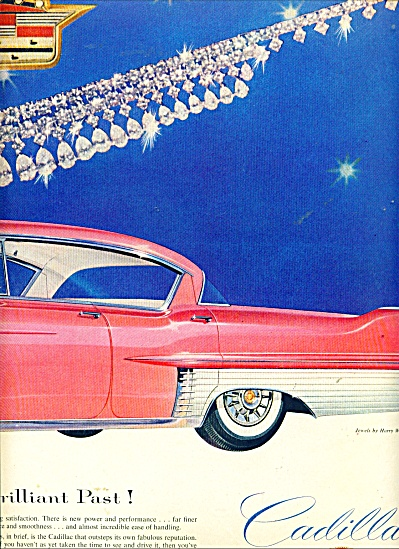 1956 PINK CADILLAC Car AD 2 pg HUGE Jewels (Image1)