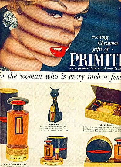 Primitif fragrance by Max Factor  ad (Image1)