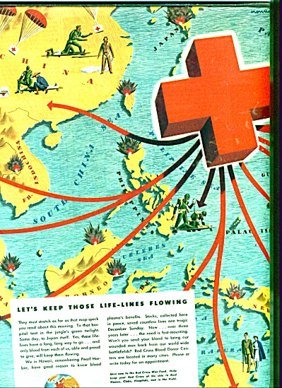 Red Cross blood donor centers ad 1945 (Image1)