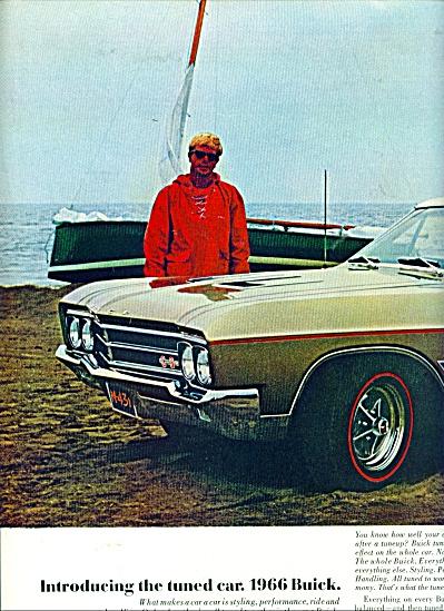1966 BUICK SKYLARK Gran SPORT CAR AD from 65 (Image1)
