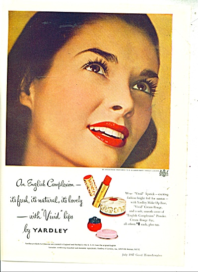 Vivid lips by Yardley ad - 1947 (Image1)