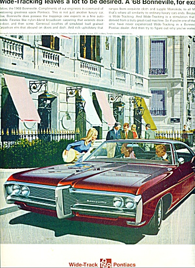 Wide track 1968 Pontiacs ad (Image1)