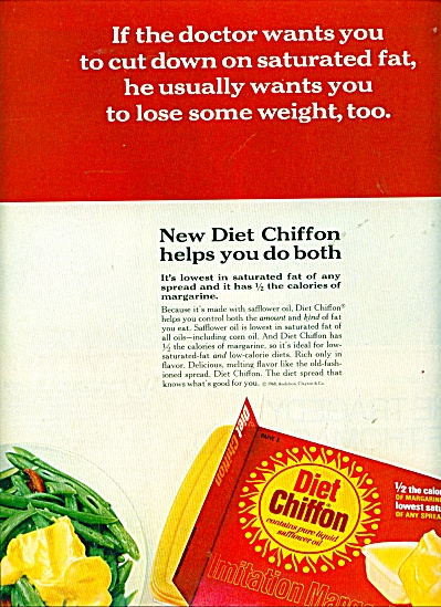 1968 Diet CHIFFON Margarine AD Lose Weight (Image1)