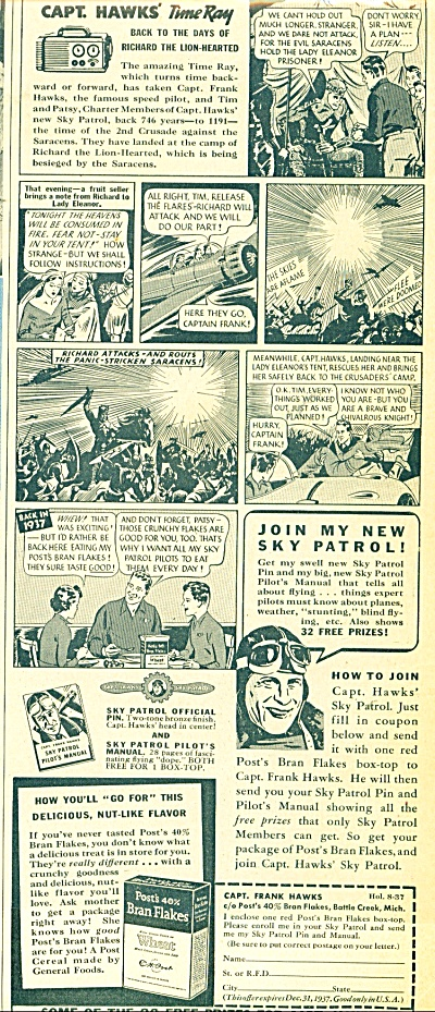 Post  40% Bran flakes ad - 1937 (Image1)