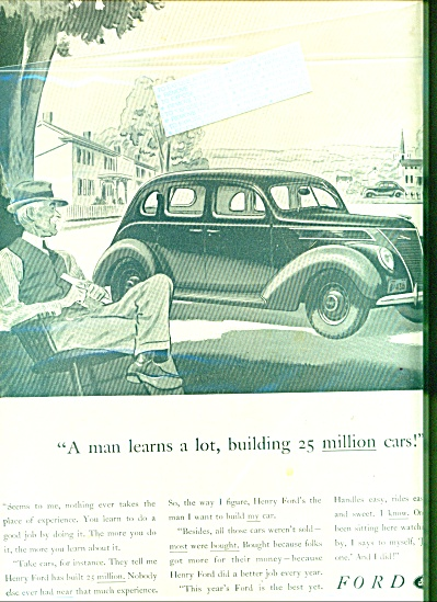 Ford  V-8 automobile   ad   1937 (Image1)