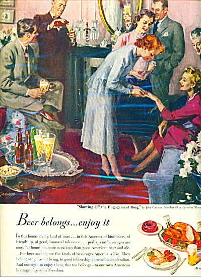 America's Beverage of moderation ad  1950 (Image1)