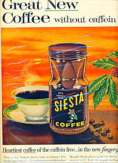 Siesta Coffee ad - 1962 (Image1)