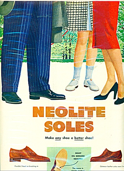 Neolite soles shoes ad  1950 (Image1)
