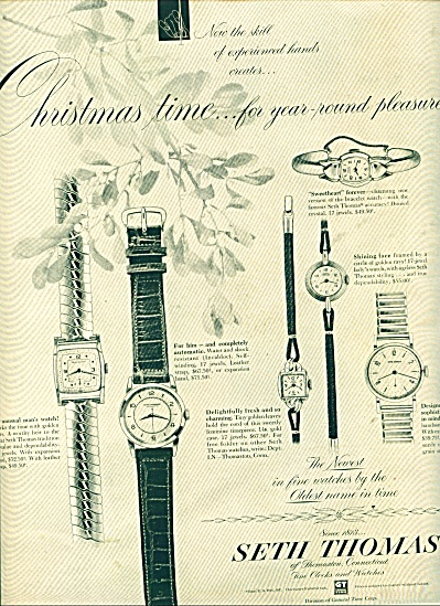 Seth Thomas Watches Ad