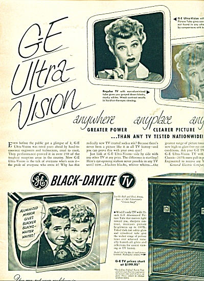 LUCILLE BALL Desi Arnaz GE Television AD (Image1)