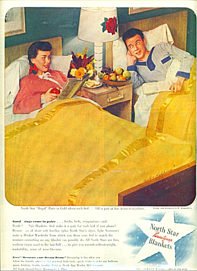 1946 North Start Blanket AD KIBBLER - KEPPLER (Image1)