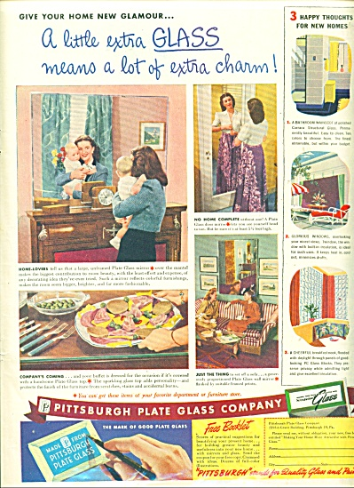 Pittsburgh Plate Glass Company ad - 1946 (Image1)