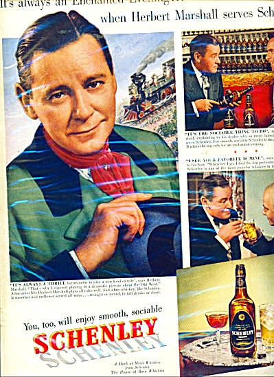 Schenley Whiskey ad HERBERT MARSHALL Actor (Image1)