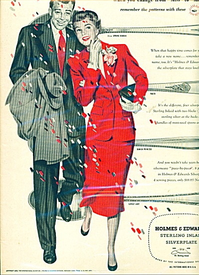 1950 Holmes & Edwards Sterling Silver Ad