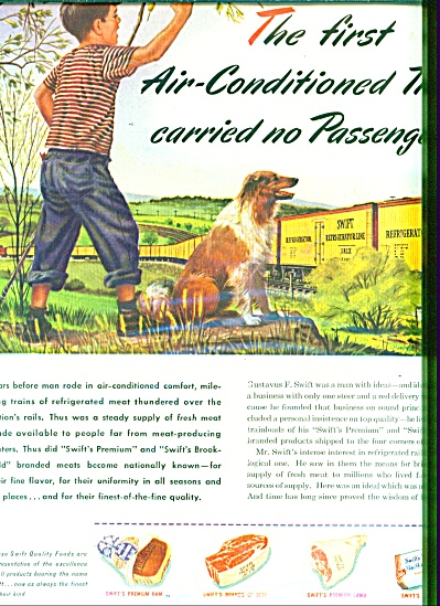 1946 SWIFT Food AD BOY - COLLIE ARTWORK (Image1)