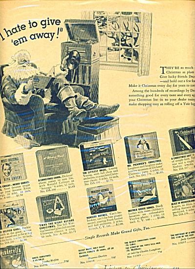 Decca Records ad  - 1944 (Image1)