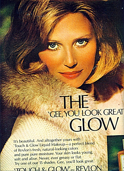 1971 Touch & Glow By Revlon Ad