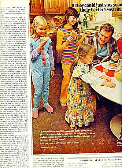 Carter's sleepwear AD  - Three Girls and Dad (Image1)