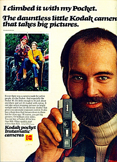 Kodak pocket instamatic cameras ad (Image1)