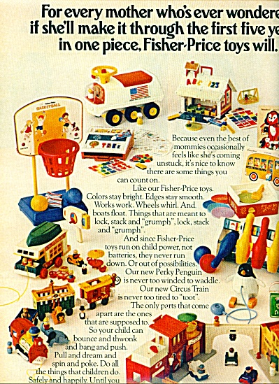 1970's Fisher-Price toys ad BARN - CIRCUS ++ (Image1)