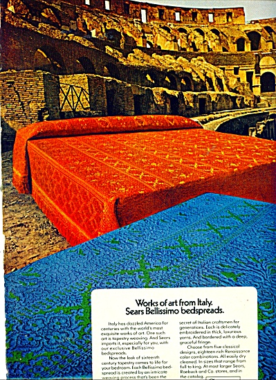 Sears Roebuck & Co. Ad Bellissimo Bedspreads