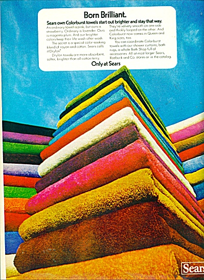Sears Roebuck & Co. Ad Color Burst Towels