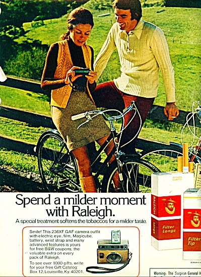 Raleigh Cigarettes Ad
