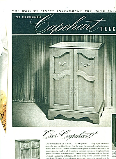 The incomparable CAPEHART television ad  1950 (Image1)