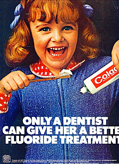 Colgate Tooth Paste Ad Redhead Girl