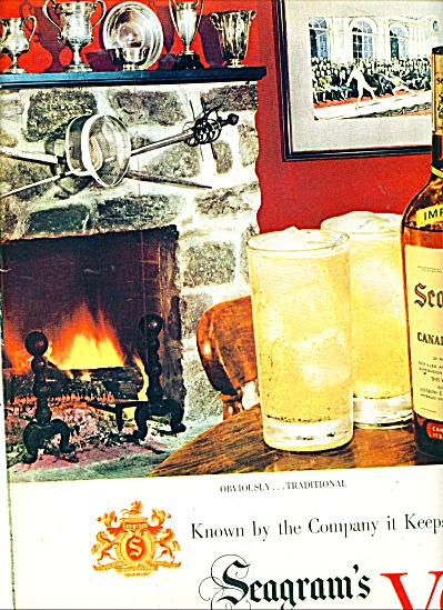 Seagram's V.O. canadian whisky ad - 1950 (Image1)