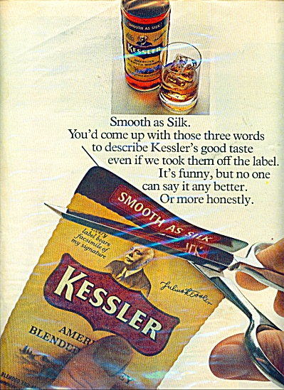 Kessler American Blended Whiskey Ad - 1969
